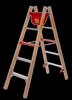 Holz/Alu Komfortsicherheitsauftritt-Leiter
